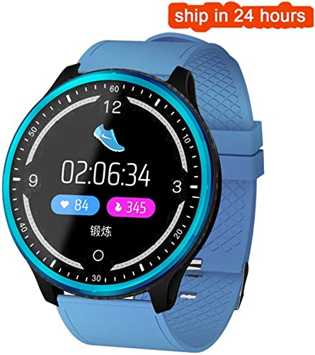 ZLOPV Montre Intelligente Smart Watch Mode Multi Sport Fréquence Cardiaque Tension artérielle Oxygène Calorie Rappel du Sommeil Rappel Rappel Bracelet à Cadran