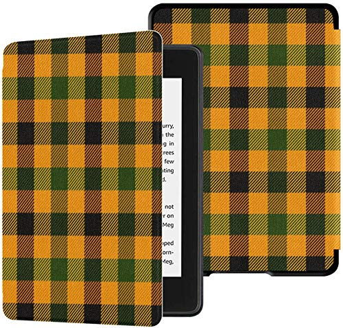 Gloednieuwe Kindle Paperwhite Waterbestendige stoffen hoes (10e generatie, uitgave 2018), Schotse ruit Plaid Schotse kooi Vector tabletbehuizing