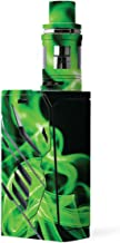 MightySkins Skin Compatible with SMOK T-Priv 220W - Green Flames | Protective, Durable, and Unique Vinyl Decal wrap Cover | Easy to Apply, Remove, and Change Styles | Made in The USA