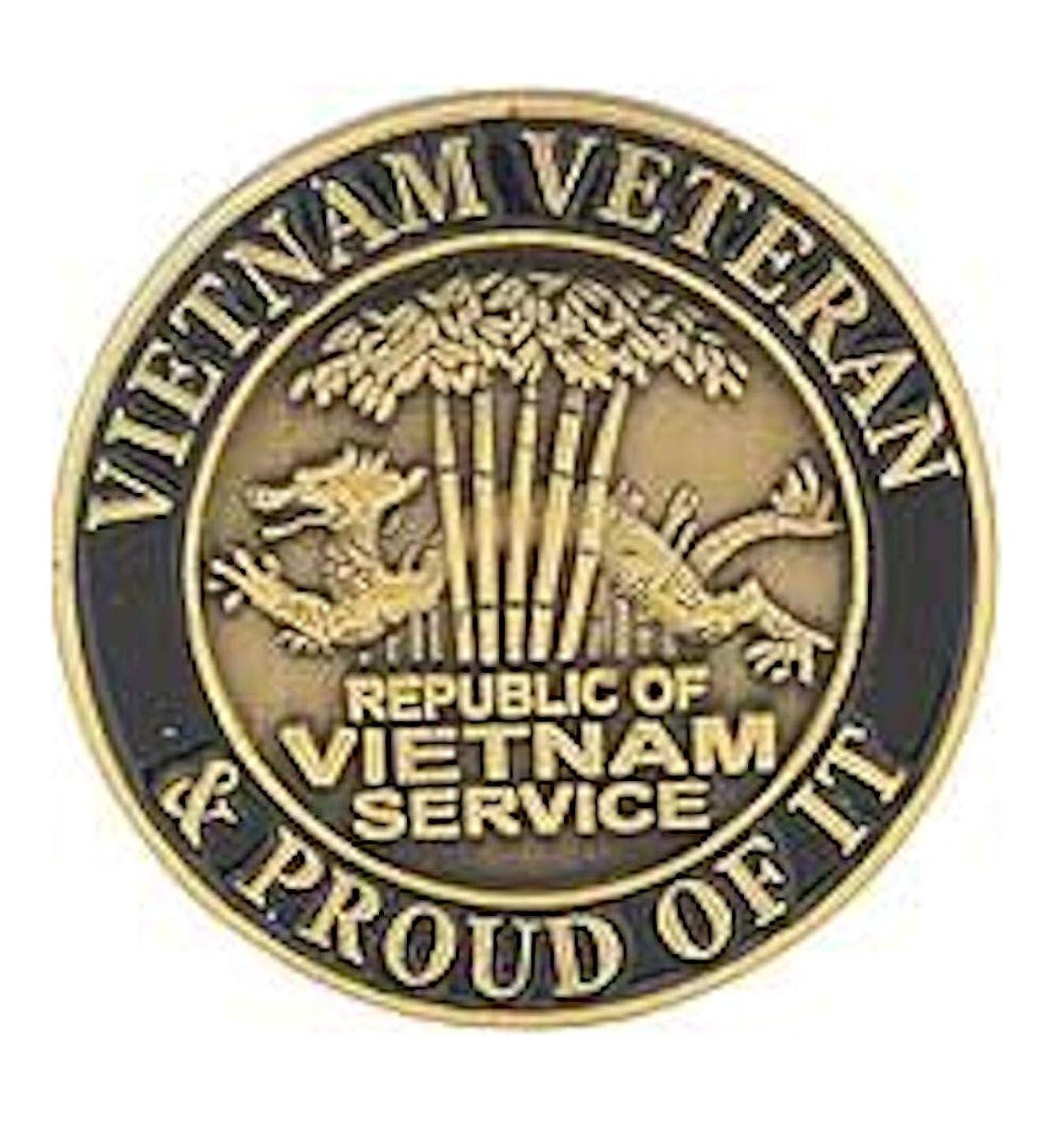 EagleEmblems P02046 Pin-Viet,Veteran (1'')