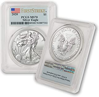 2020 Silver American Eagle MS-70 PCGS (First Strike) by CoinFolio $1 MS70 PCGS
