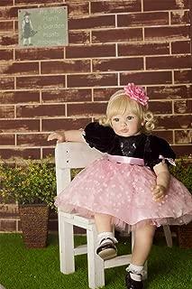 60CM Reborn Baby Toddler Girl Blonde Hair Princess Birthday Gift for Children Collectible Doll