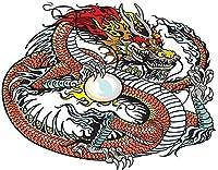 KAPANOU DIY5dダイヤモンドペインティングキット、真珠を保持している中国のドラゴン、タトゥーのイラスト、フレームダイヤモンドナンバーラインストーンペインティングキット、大人の子供向け手作りダイヤモンドアートクラフト 40x50cm