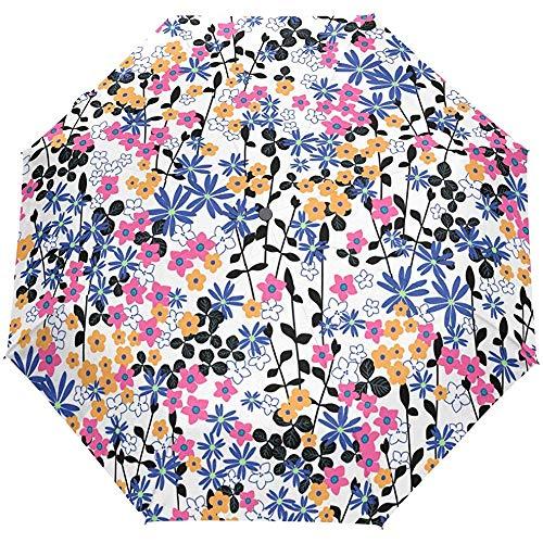 Country Garden bloemenkastorale bloem, voor auto, open paraplu, compact, UV-bescherming