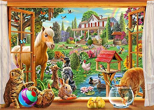Legpuzzels Voor Kinderen 300 Stukjes, Peep-Horse En Animal, 1500/1000/500/300 Stukjes, Brain Challenge Games