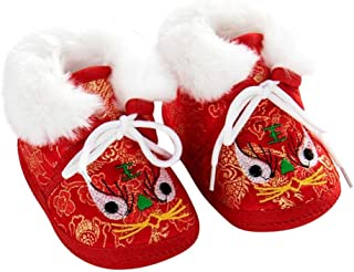 Baby Newborn Infant Boy Girls Chinese New Years Tiger Lion Eyes Asian Sock Shoes