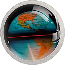 Aarde Kaart Globe Set van 4 Lade Knoppen Trekt Kast Handvat voor Thuis Keuken Garderobe Kast Home Decor Hardware Pull Knoppen