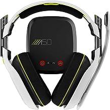 ASTRO Fone de ouvido para jogos A50 para Xbox One/PC/Mac - Branco/Amarelo (Geração 2) (Renovado)