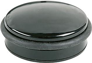 Alco - Albert 2851 - deurstopper in platte vorm, zware kwaliteit, zwart, 1 stuk