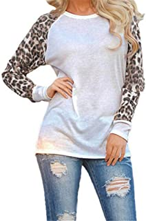 UONQD Women Casual Hooded Long Sleeves Cat Ear Print Pocket Shirt Irregular Top Blouse