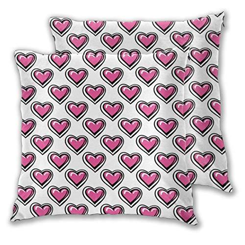 AEMAPE Square Throw Kissenbezüge, Love Heart 2er Pack dekorative Kissenbezüge Kissenbezüge für Sofa Schlafzimmer Auto 40X40 cm