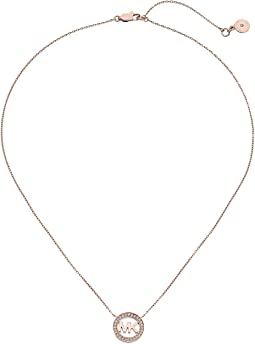 Michael Kors - Logo Pendant - Short Necklace