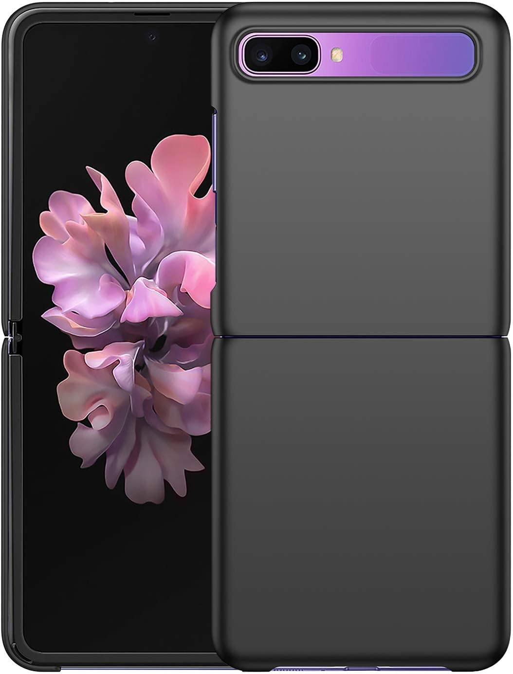 Arkour Silky Touch Designed for Samsung Galaxy Z Flip Case/Z Flip 5G Case, [Ultra-Thin & Lightweight] Matte Texture Hard Plastic Stylish Protective Slim Cover for Galaxy Z Flip (Black)