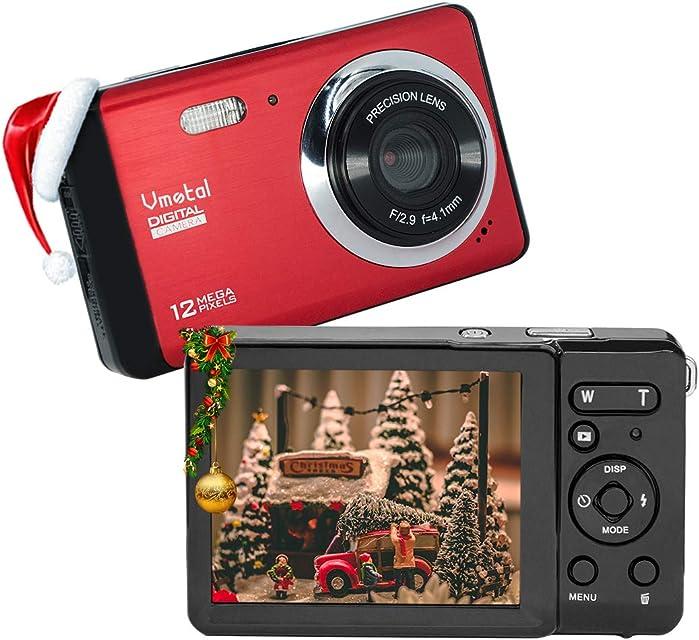 Cámara Digital 80X2 / Zoom Digital 8X / 12 MP / 720P HD/Pantalla LCD TFT de 28 Cámara Simple para niños/Adolescentes/Principiantes/Los Ancianos