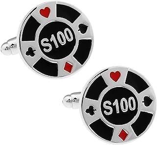 カジノ チップ $100 カフス カフスボタン カフリンクス n01430