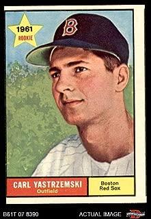 1961 Topps # 287 Carl Yastrzemski Boston Red Sox (Baseball Card) Dean's Cards 2 - GOOD Red Sox
