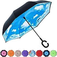 雨の日も晴れの日も♪ とっても便利な逆さ傘 逆さ傘 傘 ワンタッチ 晴雨兼用 さかさ傘 さかさかさ さかさま傘 レディース メンズ 日焼け対策 UVカット 逆向き 逆さまの傘 長傘 濡れない