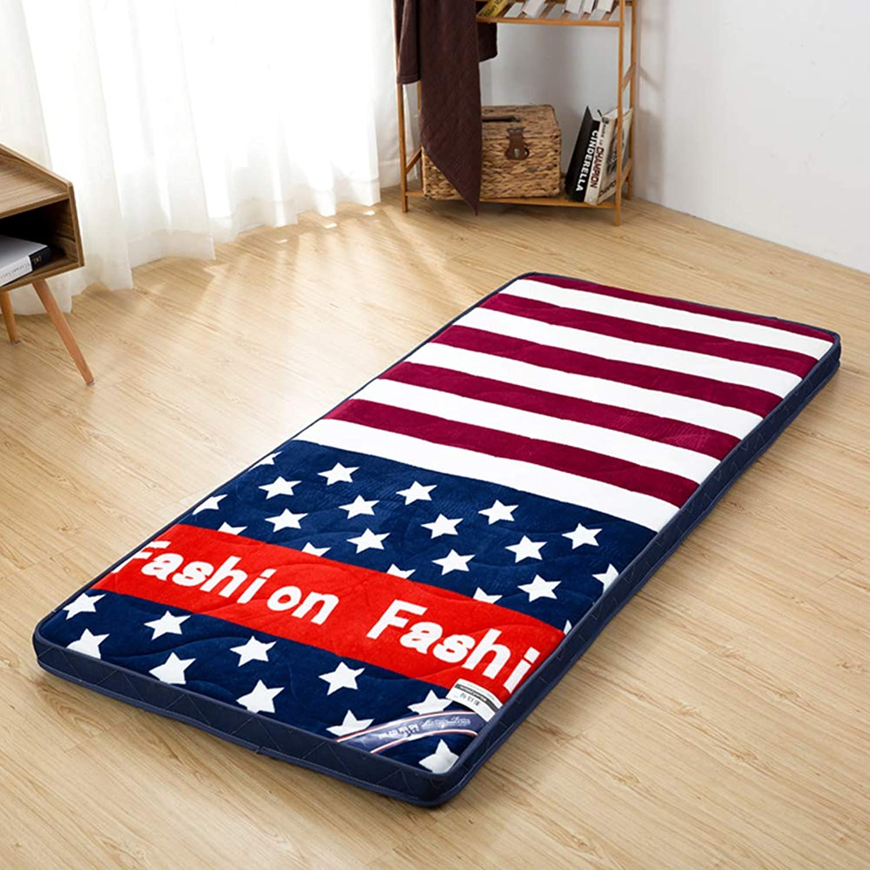 Japanese Floor Futon Mattress mat, Breathable Sleeping Mattress Topper Bed roll Tatami for Living Room Dorm Student-C 150  200cm(59x79inch)