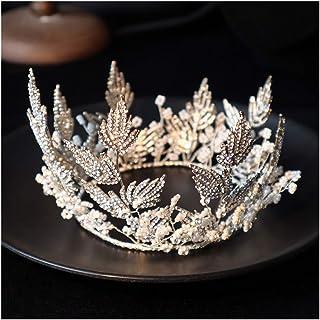 GAOJIAN Corona per Sposa Corona di Abito da Sposa con Perline di Diamanti Lavorata a Mano Matrimonio Studio Fotografico Fo...