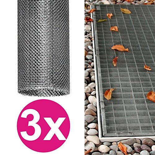 DILUMA 3X Lichtschachtabdeckung 120 x 60 cm Edelstahl individuell zuschneidbares Gitter Kellerschacht-Abdeckung Schutzgitter rostfrei, langlebig und pflegeleicht