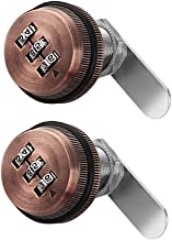 2 Stks Zinklegering 3-cijferige Code Combinatie Cam Lock, Rood Verdikte Lade Deurkast Mailbox Cam Sloten Beveiliging Wacht...
