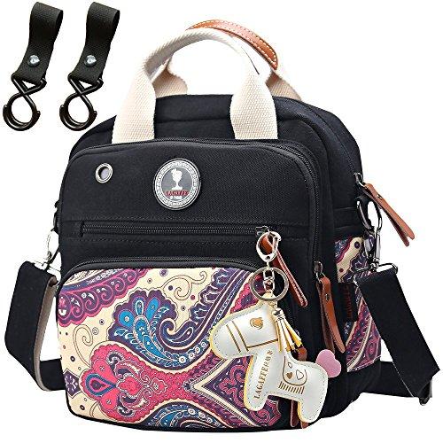 Lightweight Diaper Bag Backpack Crossbody Cooler for Unisex Neutral Boy(Balck)