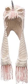 ShiyiUP Children Unicorn Hat Girl Crochet Scarf Cape