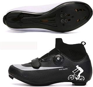 Big HorseScarpe da Ciclismo Antiscivolo Big Horse, Scarpe da Strada e Mountain Bike Traspiranti in Fibra di Carbonio