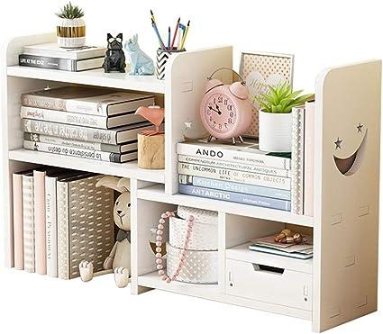 Estantería de escritorio pequeña ajustable para libros de ...