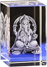 ZGPTX Crystal 3D Laser Statue Decor Gift Crystal Like Buddha Indian Elephant Nose Buddha Transparent Crystal Pendulum