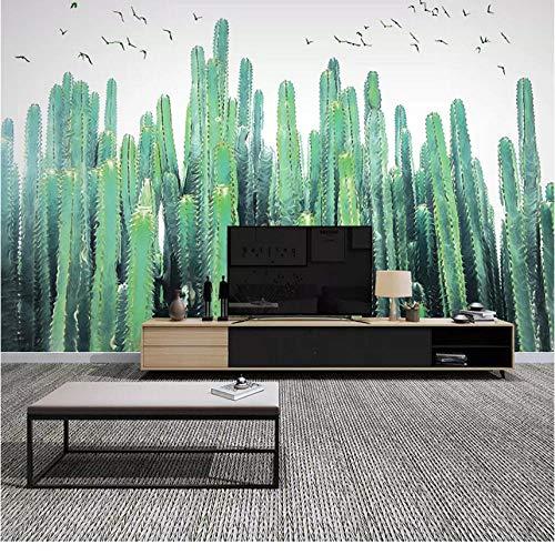 Fototapete 3D Handgemalte Tropische Kakteen Wandbilder Tapeten Für Wohnzimmer Schlafzimmer Esszimmer Wohnkultur 3D Wandbild-250 * 200cm