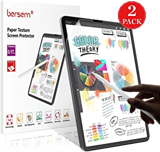 BERSEM [2 Pack] Paper Texture iPad Pro 12.9 Screen Protector (2020 & 2018 Models Without Home Button),Paper Texture iPad pro 12.9 Matte PET Film for Drawing Anti-Glare and Paper Texture