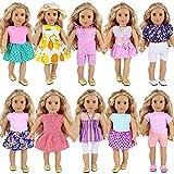 ZITA ELEMENT 10 Sets Ropa Vestidos Fashionista Lindo Accesorios para 40-46cm American 18 Pulgadas Girl Doll y Otras Muñecas 16-18 Pulgadas