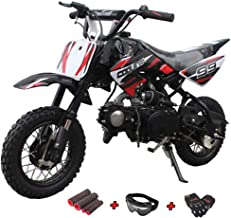 X-Pro 70cc Dirt Bike Pit Bike Kids Dirt Pit Bike 70cc Child Dirt Bike Dirt Pitbike with Gloves, Goggle and Handgrip
