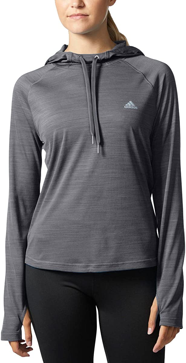 adidas Credence Super special price Women's Climalite Long Sleeve Dark Gre Hoody Performance