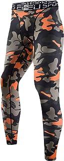 sillictor スポーツタイツ メンズ パワーストレッチ ロング アンダーウェア コンプレッション タイツ [UVカット + 吸汗速乾]