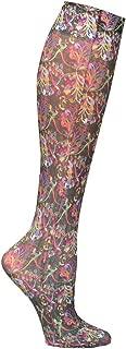 Celeste Stein Printed Mild Compression Knee High Stockings - Multi Lace