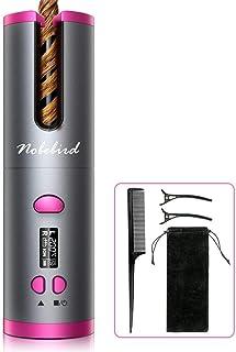 Ferro Arricciacapelli Senza Cordone, Bigodino Rotante Portatile Ricaricabile USB con Rivestimento in Ceramica e 6 Impostaz...