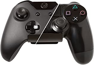 HIDEit Uni-C Controller Wall Mount (2-Pack Black) - Mount for Video Game Controllers - Compatible with Playstation, Xbox, NVIDIA, Nintendo Switch Controllers and More - Trusted Worldwide Since 2009