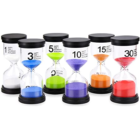 5pcs 30s//1min//3min//5min//10min Hourglass Sandglass Kid Toy Sand Clock Timers