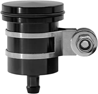 CNC Aluminum Oil Cup Front or Rear Brake Fluid Reservoir For Yamaha FZ01 FZ03 FZ07 FZ09 FZ10 YZF R1 R3 R6 R25 R15 R125 For Kawasaki Z250 Z650 Z750/R/RR Z800 Z900 Z1000/sx (Black)