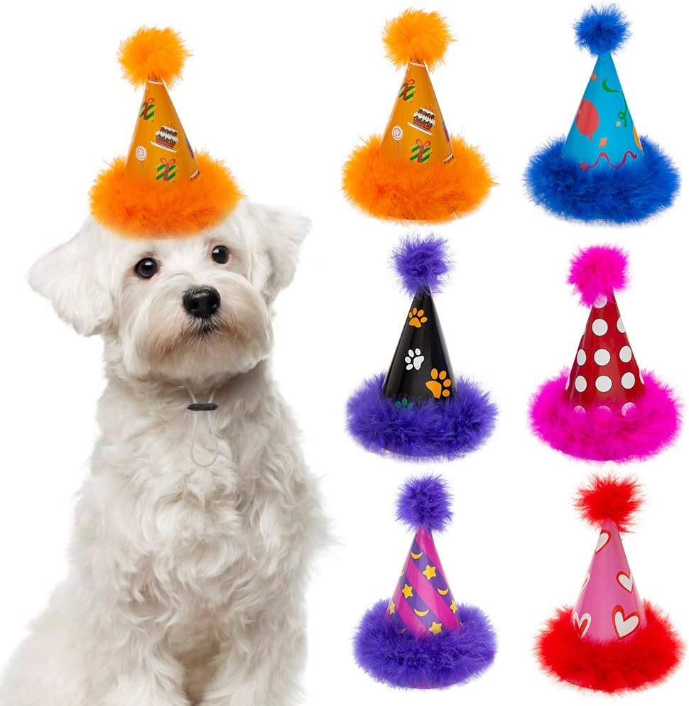 Dog Party Hat 6 Packs - Christmas Set Cute Cone Mail order cheap Dogs Hats for Bi Easy-to-use