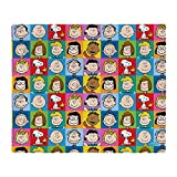 CafePress Peanuts Back to School Pattern Throw Blanket Soft Fleece Throw Blanket, 50'x60' Stadium Blanket