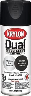 Krylon K08823007 Dual Superbond Primer Spray Paint, 12 Ounce Aerosol, Satin Black