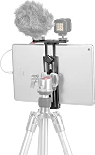 "SmallRig Metal Holder for iPad Tripod Mount Adapter with 2 Cold Shoe, 1/4"" Screw, Acra Swiss Rail Mount, for iPad Mini Air..."