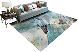 Modern Rugs, Modern Minimalist Style for Living Room Sofa Computer Chair Coffee Table Rug Personality Nordic Bedroom Bedsi...
