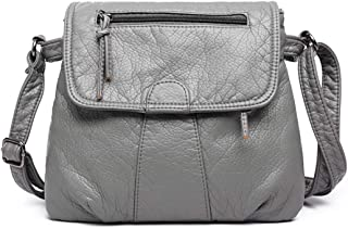 COAFIT Women's Shoulder Purse Soft Flap Cover Messenger Bag Casual Purse