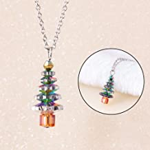 SpirWoRchlan Christmas Decorations, Christmas Tree Fake Crystal Pendant Fashion Women Jewelry Gift Chain Necklace Xmas Stocking Fillers