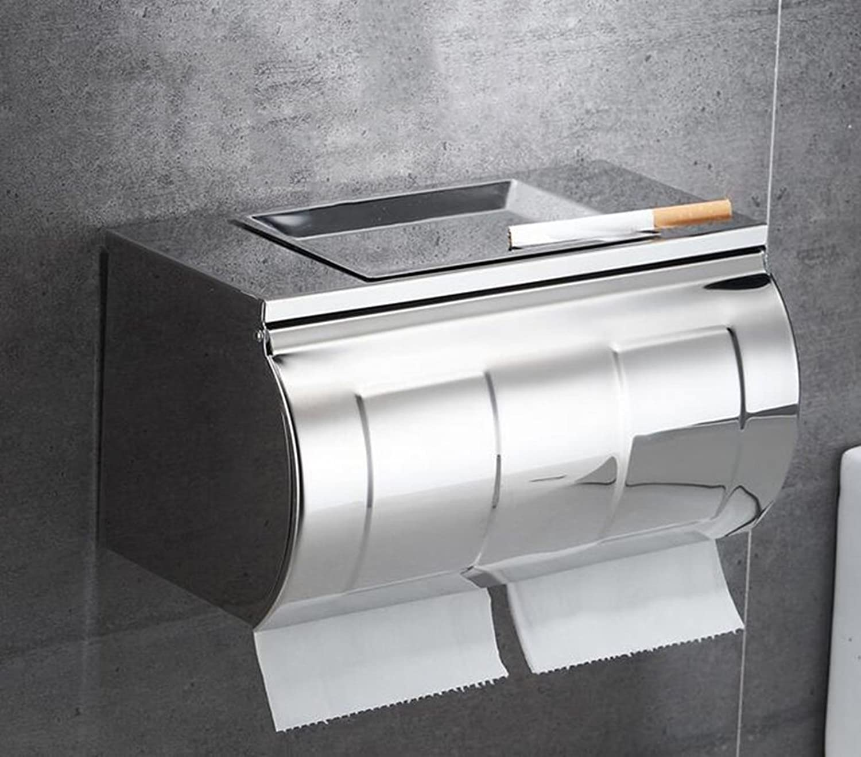 FLYSXP FLYSXP FLYSXP Toilettenpapierkasten aus Edelstahl zur Wandmontage Toilettenpapierhalterung (Farbe   B) B07MJ4D17Z 14b5a7