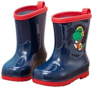 Hopscotch Boys PVC Animal Applique Rain Boots in Blue Color